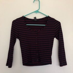 Forever 21 Striped Long Sleeve
